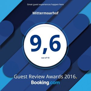 Mittermoarhof Booking.com Guest Awards